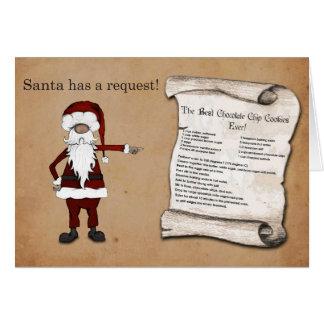 Santa has a Request! Card