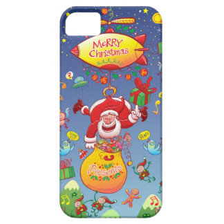 Santa has a Zeppelin to Deliver Christmas Gifts iPhone 5 Covers