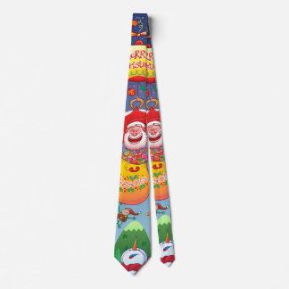 Santa has a Zeppelin to Deliver Christmas Gifts Neck Tie