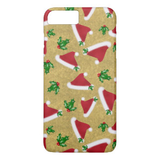 Santa Hat and Holly iPhone 8 Plus/7 Plus Case