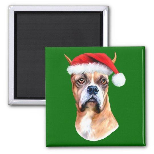 Santa Hat Boxer Magnet