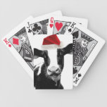 Santa Hat Christmas Cow! Deck Of Cards