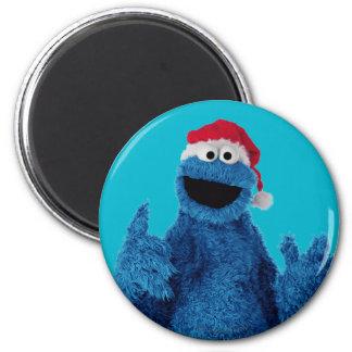 Santa Hat Cookie 2 Inch Round Magnet