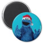 Santa Hat Cookie Refrigerator Magnets