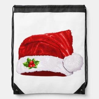 Santa Hat Drawstring Backpack