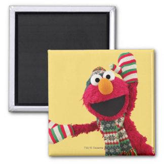 Santa Hat Elmo 2 Inch Square Magnet