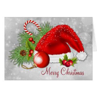 Santa Hat Festive Christmas Card