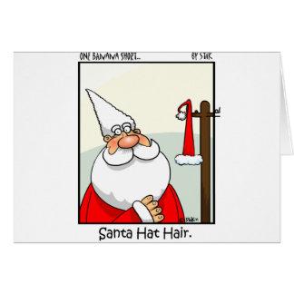 Santa Hat Hair Greeting Card