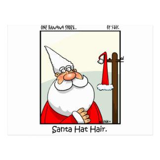 Santa Hat Hair Postcard
