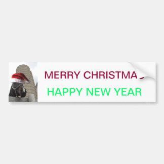 Santa Hat Horsey Bumper Sticker