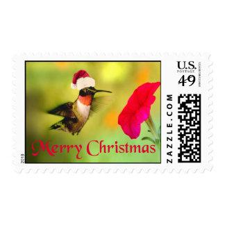 Santa Hat Hummingbird Christmas Postage