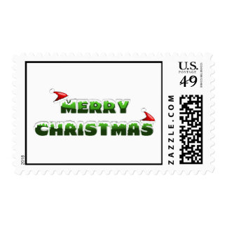 Santa Hat Merry Christmas Postage Stamps