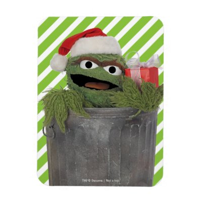 Santa Hat Oscar The Grouch Add Your Name Snowflake Pewter Christmas Ornament Zazzle Com