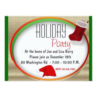Santa Hat Party Invitation