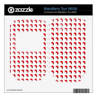 Santa Hat Pattern BlackBerry Tour Decal