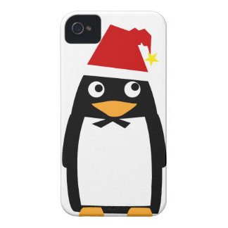 Santa Hat Penguin Cell cover - Iphone 4