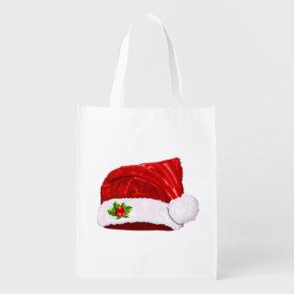 Santa Hat Reusable Grocery Bag