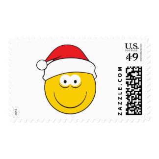Santa Hat Smiley Face Postage