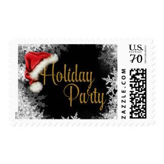 Santa Hat Snowflake Christmas Holiday Postage