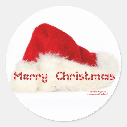 Santa hat sticker zazzle