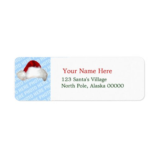 Santa Hat Template Christmas Return Address Labels | Zazzle