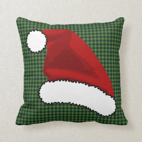 santa hat throw pillows