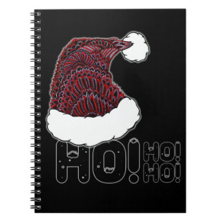 Santa Hat with Text Notebook