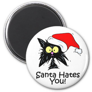 Santa Hates You 2 Inch Round Magnet