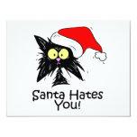 Santa Hates You 4.25x5.5 Paper Invitation Card