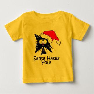 Santa Hates You Baby T-Shirt
