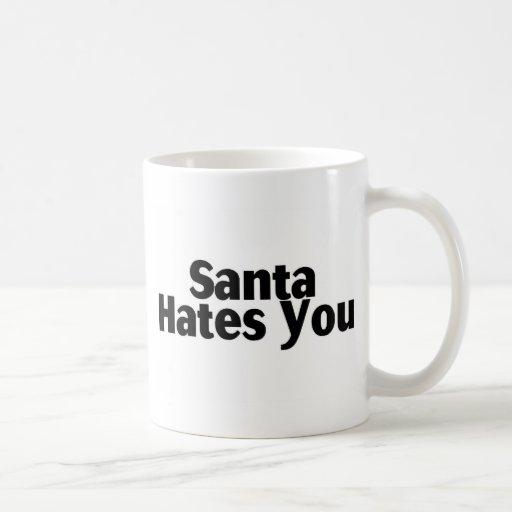 Santa Hates You Classic White Coffee Mug