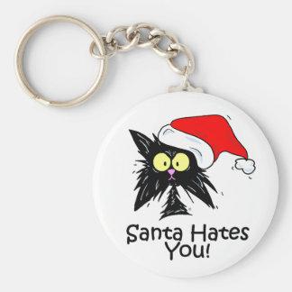 Santa Hates You Keychain