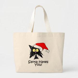Santa Hates You Large Tote Bag