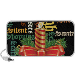 Santa Have a Nice Day and a Better Night.jpg Portable Speakers
