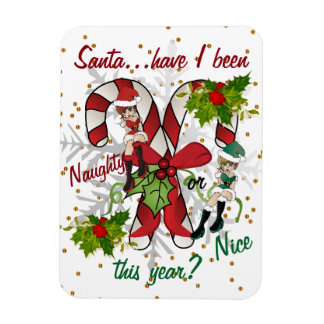 Santa Have I been Naughty or Nice this year? Magnet