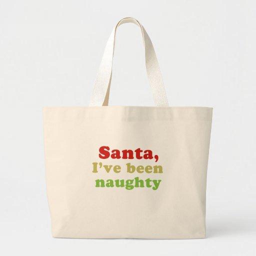 Santa, he sido travieso bolsa
