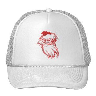 Santa Head Distressed Faux Letterpress Style Trucker Hat