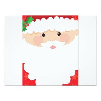 Santa Head Frame 4.25x5.5 Paper Invitation Card