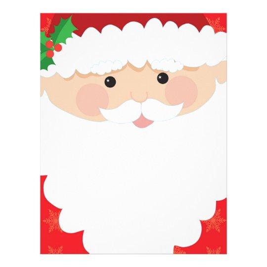 Santa Head Frame Letterhead