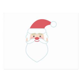 Santa Head Postcard