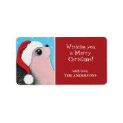 Christmas Hedgehog Gift Tag