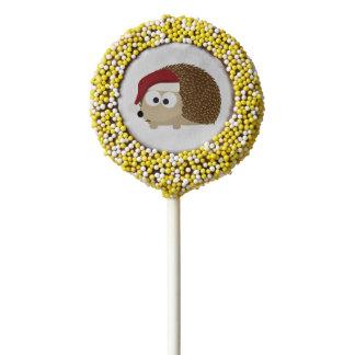 Santa hedgehog chocolate dipped oreo