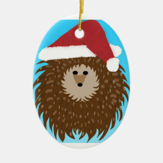 Santa Hedgie Ornament