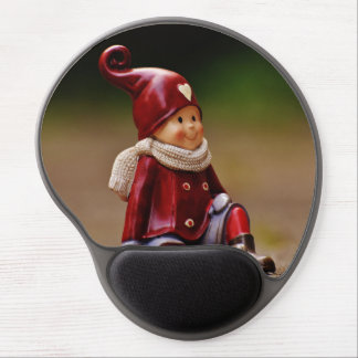 Santa helper - happy christmas - gnome gel mouse pad