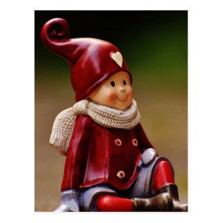 Santa helper - happy christmas - gnome postcard