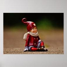 Santa helper - happy christmas - gnome poster