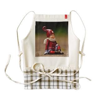 Santa helper - happy christmas - gnome zazzle HEART apron