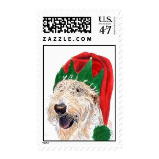 Santa Helper Labradoodle Postage Stamps