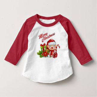Santa Helper Toddler 3/4 Sleeve Raglan T-Shirt