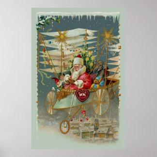 Santa & His Amazing Flying Machine Poster